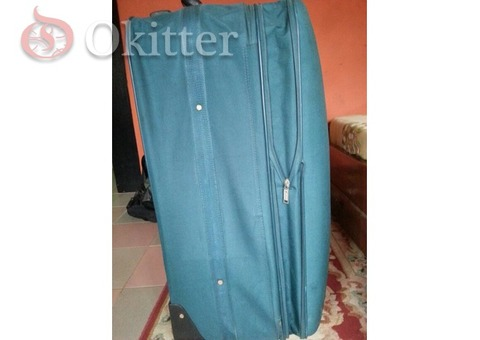 Blue fiore suitcase bag for sale